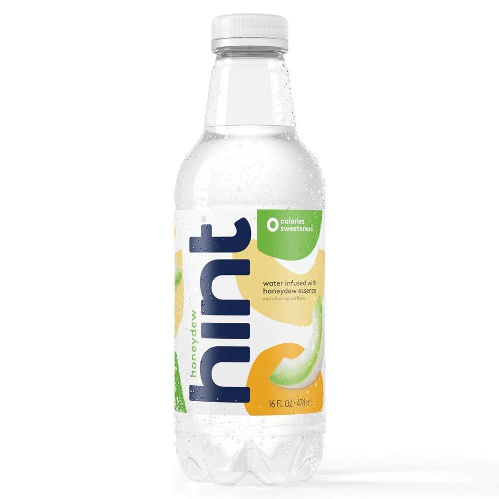 Hint Water Honeydew, (Pack of 12) 16 Ounce Bottles, Pure Water Infused with Honeydew, Zero Sugar, Zero Calories, Zero Sweeteners, Zero Preservatives, Zero Artificial Flavors, Zero Artificial Sweetener