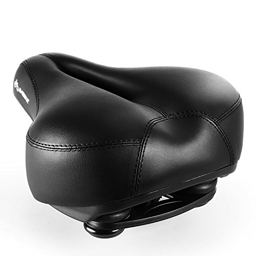 INBIKE Most Comfortable Bicycle Seat, Foam Padded Breathable Big Bike Seat for Men Women