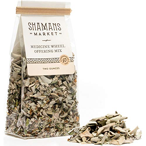 Inspired By Nature Medicine Wheel Offering Mix Sage, Tobacco, Cedar and Sweetgrass Loose