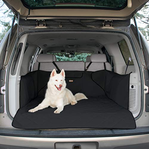 K&H Pet Products Quilted Cargo Cover Black (Full Size) - Protects Cargo Area of Your Vehicle from Pet Hair, Dirt, Scratches and More