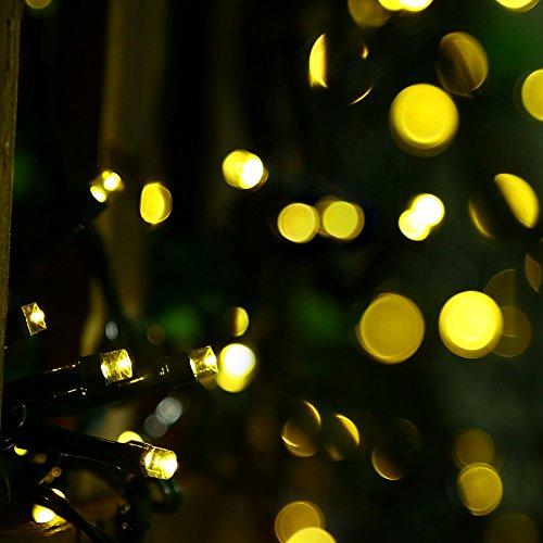 Uping® Lichterkette 100 Leds mit AC EU-Stecker von DC 31V Niederspannungstransformator und 8 Programm für Party, Garten, Weihnachten, Halloween, Hochzeit, Beleuchtung Deko in Innen und Außenbereich usw. Wasserdicht 12M warmweiß