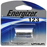 Energizer EL123APBP CR123 Lithium Battery - For Rangefinders, Rifle Scopes, Flashlights & Photo Equipment