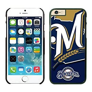 Apple iPhone 6 Plus Phone Case,Milwaukee Brewers (1) TPU iPhone 6Plus 5.5 inch Protective Skin Case 1 Black