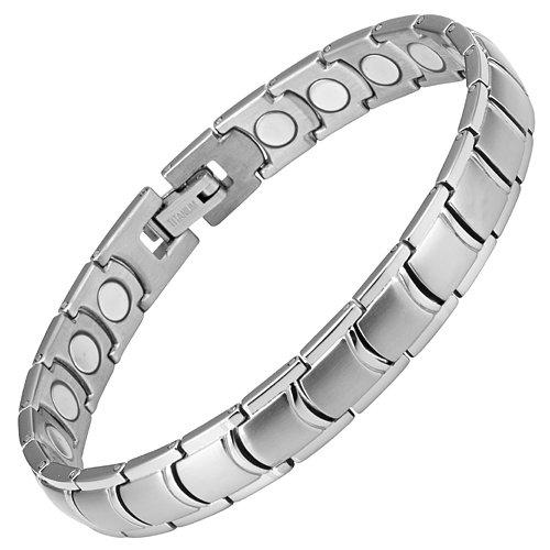 Womens Titanium Magnetic Therapy Bracelet for Arthritis Pain