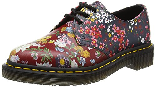 Dr. Martens Women's Floral 1461 Air-Cushioned Fashion Oxfords, Multi, Leather, 6 M UK, 8 M US by Dr. Martens