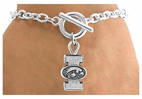[Licensed University of Iowa Hawkeyes Logo & Mascot Bracelet] (Iowa Hawkeye Mascot Costume)