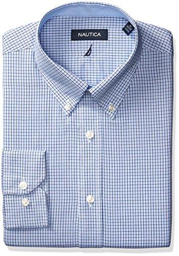 Nautica Men's Microgingham Buttondown Collar Dress