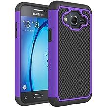 Galaxy J3 Case, Express Prime Case, Amp Prime Case, NOKEA [Shock Absorption] Hybrid Armor Defender Protective Case Cover for Samsung Galaxy J3 / Express Prime / Amp Prime (Purple)