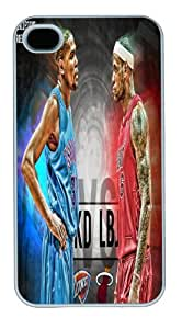 custom and diy iphone4 4S case 2014 nba all star Kevin Durant vs LeBron James by hhppshop