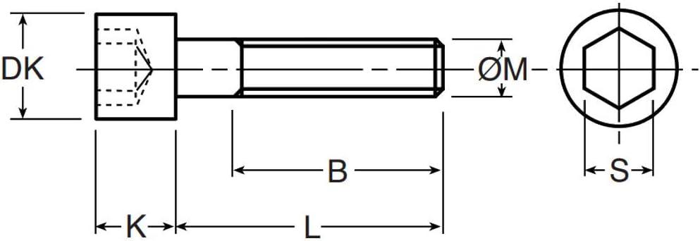 BTR ACIER INOXYDABLE A2 NORME DIN 912 RVS EMPREINTE 6 PANS CREUX M6x10 5x VIS CHC M6