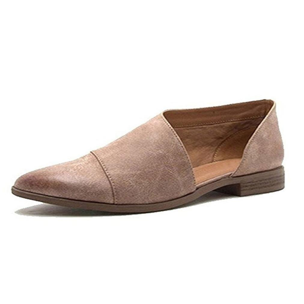 Damen Sandalen Ronamick Frauen Damen Fruuml;hling Mode Lauml;ssig Spitz Flache Schuhe Nude Schuhe Keilabsatz Sandaletten Pantoletten  37 EU|Grau