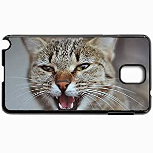 Customized Cellphone Case Back Cover For Samsung Galaxy Note 3, Protective Hardshell Case Personalized Cat Cat Mordaha Canines Black