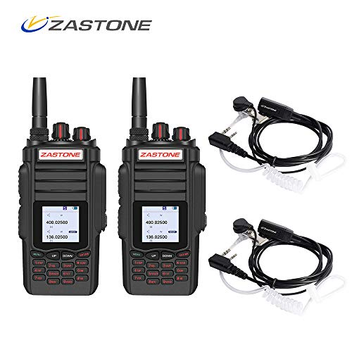 Zastone A19 Dual Band Two-Way Radio 10W 999-Channel VHF Radio Handheld Walkie Talkie 2 Pack for Driving Or Travelling