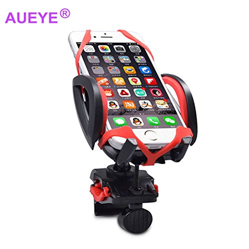 Aueye Bicycle Phone Holder With Silicone Pad,CellPhone Bike Motorcycle Handlebar Mount Cradle for iPhone Samsung LG Blackberry 360 Vehicle omnibearing Sponge Anti-Slip Protect Cellphone Case