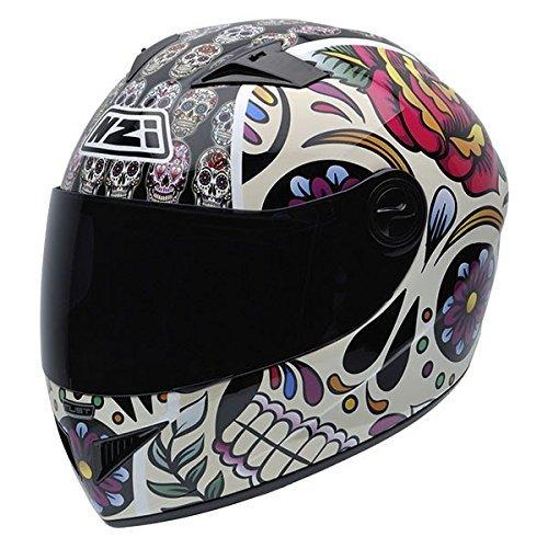 Mexican Skulls,X-Peque/ña NZI Must II Graphics Casco De Moto