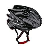 LEADTRY HM-1 Bicycle Helmet Ultralight Integrally Molded EPS Bike Helmet Safety Helmet Specialized for Road/Mountain Terrain Bicycle with Comfortable Removable Washable Antibacterial Pads Black