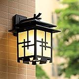 MOMO Chinese Wall Lamp Japanese Simple Outdoor Outdoor Waterproof Villa Door Hall Garden Garden Imitation Retro Lights