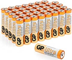 AA Batteries Pack of 40 GP Batteries Superb operating time 1.5V - Mignon - LR06 - MN1500-15A- AM3