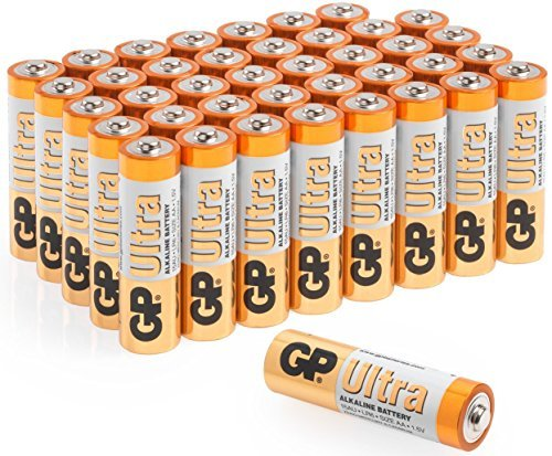 GP Ultra Alkaline LR6 AA High Performance Batteries for Toys & more - 40 Pack