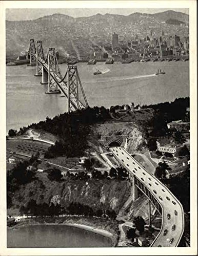 San Francisco-Oakland Bay Bridge - Yerba Buena Anchorage Yerba Buena Island, California Original Vintage - Francisco San Anchorage