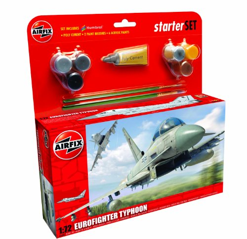 Airfix A50098 Eurofighter Typhoon 1:72 Scale Military Aircraft Category 3 Gift Set (Including Paint Glue And (Aircraft Gift Set)