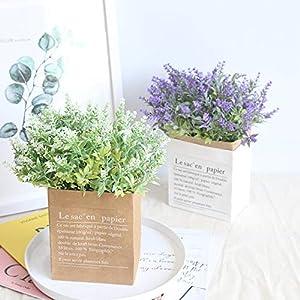 Youmymind 15Heads Artificial Flowers Lavender Fake Bridal Bunch Wedding Arrangements Festival Party Bouquet Home Decor 26