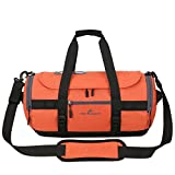 Hulorry Travel Duffle Bag for Men,Travel Duffle Bag Sports Handbag Waterproof Traveling Shoulder Bag with Shoe Compartment Large Multifunctional Bag for Luggage Gym Climbing Hiking Camping Travel