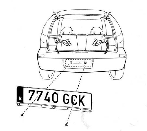YMPA EH-NS Parking Aid Reverse Warning License Plate Holder
