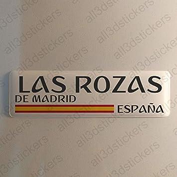 Pegatina Las Rozas de Madrid España Resina, Pegatina Relieve 3D Bandera Las Rozas de Madrid España 120x30mm Adhesivo Vinilo: Amazon.es: Coche y moto