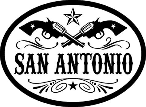 San Antonio, Texas oval decal for auto, truck or boat