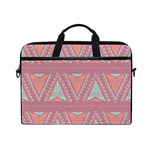 AHOMY Retro Indian Tribes 15 Inch Laptop Shoulder Sleeve Messenger Bag Case (Indian Accidental)