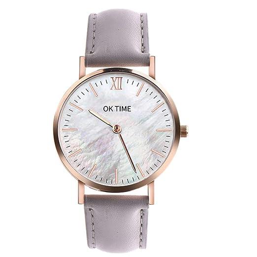 Dylung Reloj para Mujer Dama Hombre Reloj de Pulsera de Mujeres Unisex Relojes de Moda Analógico