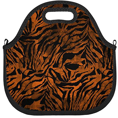 sgogoyikido Lunch Bag Zebra Gradient Tie Dye Colorful Camouflage Insulated Neoprene Lunch Bag Large Space Boys and Girls School Tote Cooler Warm Pouch ()