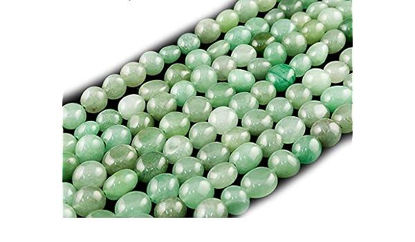 Apatite, Pebble Bead 7-10mm Abalorio Cuenta Mostacilla o Chaquira De Piedra Semipreciosa Llano Guijarro//Nugget Cerca de los 40cm un Tira. DIY Apatite Beads Ok Genuino Naturales