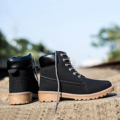 Men Black Fur Warm Shoes Ankle Anglewolf Boots Autumn Boots Lined Winter Martin TdPaq