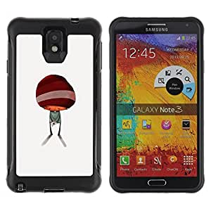 Suave TPU Caso Carcasa de Caucho Funda para Samsung Note 3 / Abstract Minimalist Kid Cute / STRONG