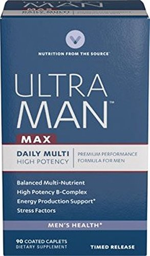 Vitamin World Ultra Man™ Max Daily Multivitamins 90 Coated Caplets