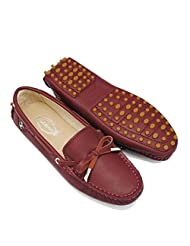 Doris Fashion Women's Cowhide leather Loafer Flats Driving Moccasin Work Casual Shoes