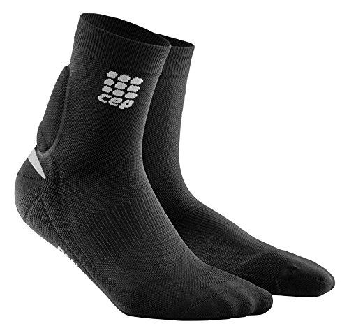 Ortho+ Achilles Support Short Socks, Black, Men, IV
