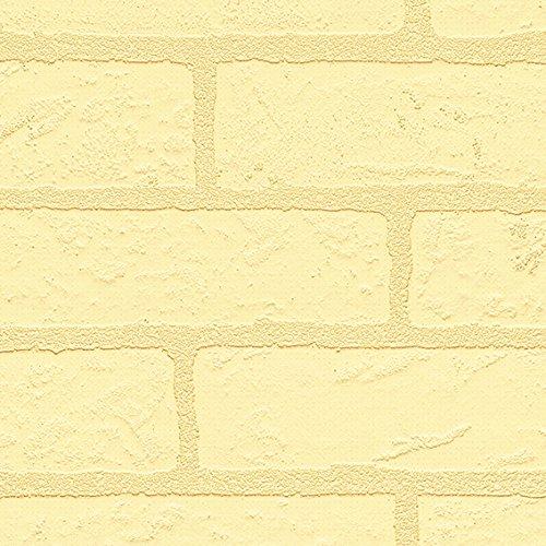 シンコール  壁紙43m  レンガタイル調  イエロー  BB-8446 B075CMLYWG 43m|イエロー