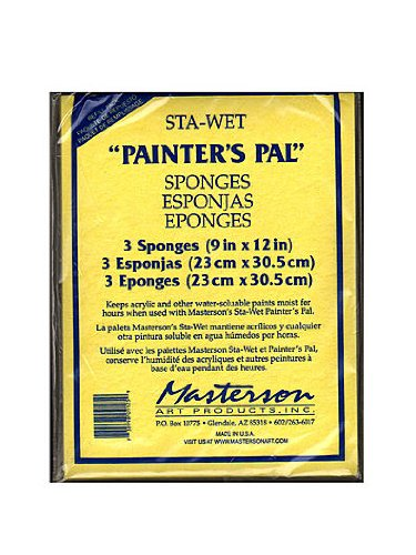 (Masterson Sta-Wet Painters Pal Palette Painters Pal sponge refills pack of 3 9 in. x 12 in. [PACK OF 2 ])