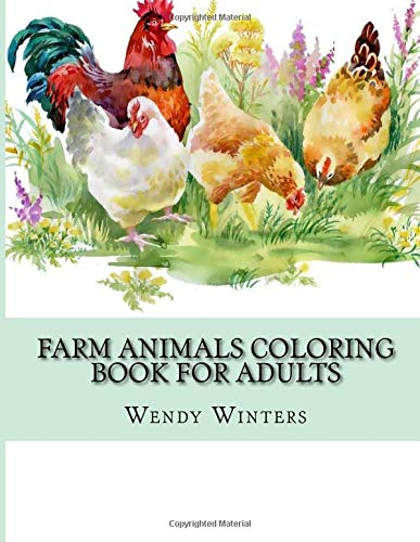 Farm Animals Coloring Book Adults product image