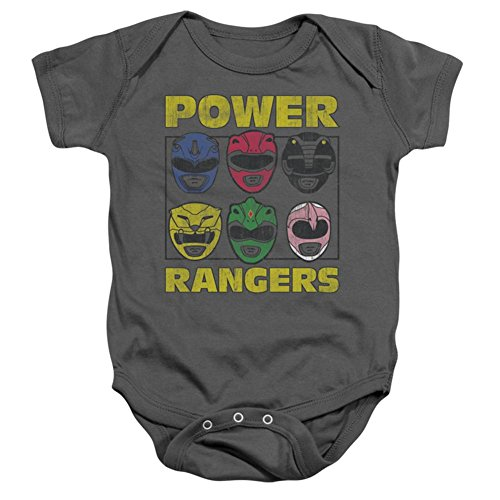 Infant: Power Rangers - Ranger Heads Infant Onesie Size 6 Mos