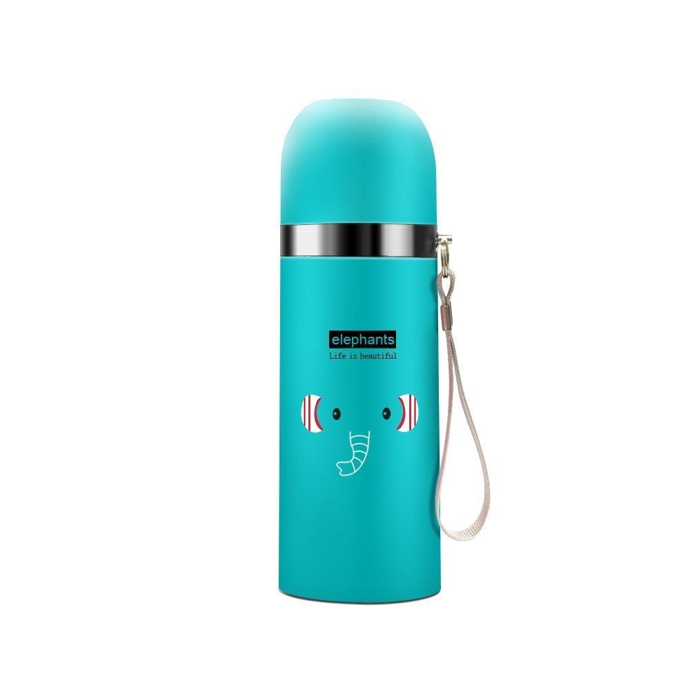 Jzhen Botella de Agua Acero Inoxidable 500 ML para Bebidas Calientes y Frías