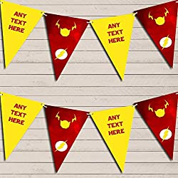 Superhero The Flash Children's Birthday Bunting Garland Party Venue Decoration Party Flag Banner Garland