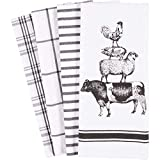 KAF Home Pantry Stacked Farm Animals Kitchen Dish Towel 18 x 28-inch Set of 4: more info