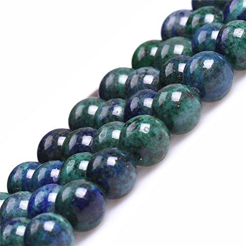 Lapis Lazuli Malachite Beads for Jewelry Making Gemstone Semi Precious 8mm Round 15
