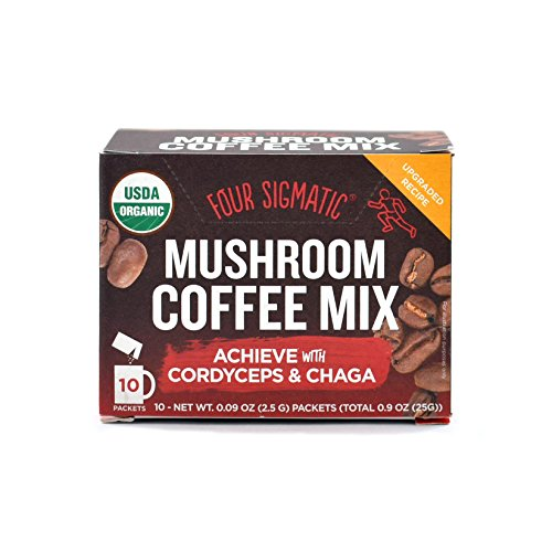 Four Sigmatic Mushroom Coffee Mix Pack of 2 - Lion's Mane and Chaga & Cordyceps and Chaga by Four Sigmatic (Image #3)