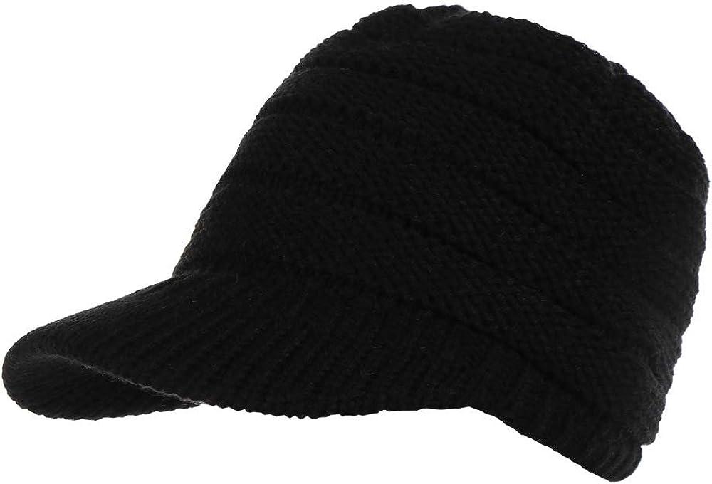 LFEILONG Sombreros de otoño e Invierno para Mujer a lo Largo del suéter de Cola de Caballo de Punto Gorros de Lana al Aire Libre