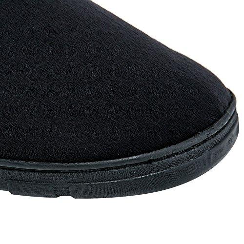 Pantofole Calde Degli Uomini Del Jackshibo, Scarpe Di Pistone Mens Comode Della Schiuma Di Memoria Nere